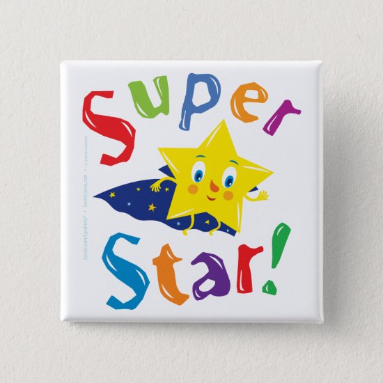 Super Star! Pinback Button