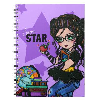 Super Star School Girl Smartie Notebook