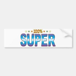 Super Star Tag v2 Bumper Stickers