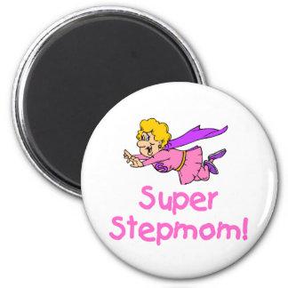 Super Stepmom (Flying) 2 Inch Round Magnet