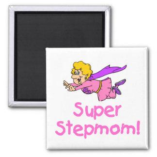 Super Stepmom (Flying) 2 Inch Square Magnet