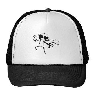 SUPER STICKMAN TRUCKER HAT