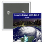 Super Storm Sandy 2012,Eye of the storm_ 2 Inch Square Button