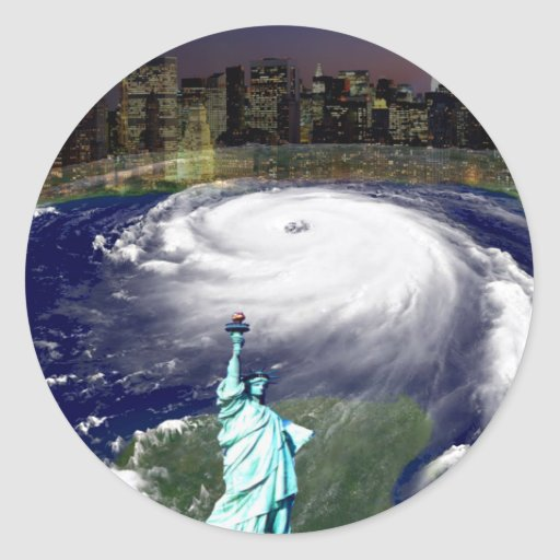 Super Storm Sandy 2012,Eye of the storm_ Classic Round Sticker