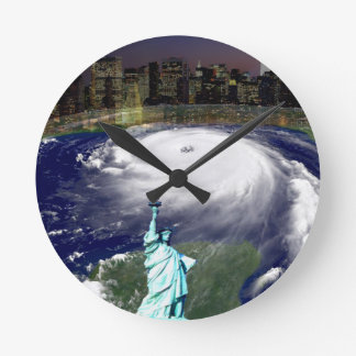 Super Storm Sandy 2012,Eye of the storm_ Round Wall Clocks