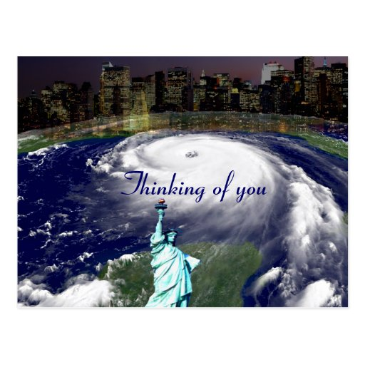 Super Storm Sandy 2012,Eye of the storm_ Post Card