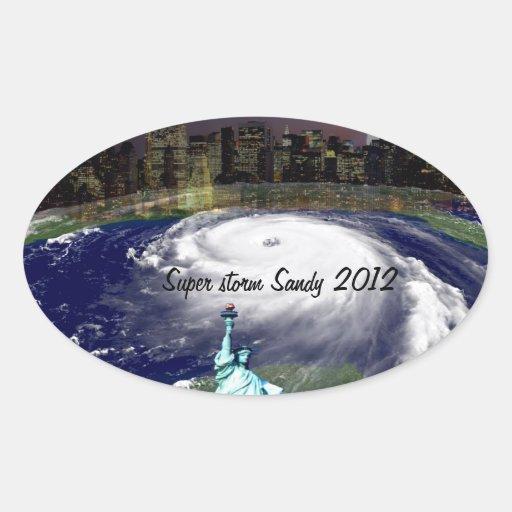 Super Storm Sandy 2012,Eye of the storm_ Oval Sticker