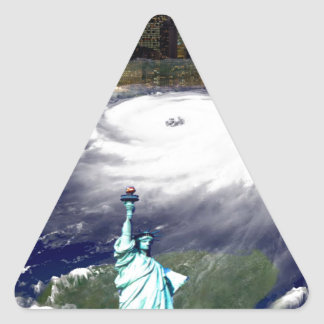 Super Storm Sandy 2012,Eye of the storm_ Triangle Sticker