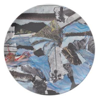 Super storm Sandy collage Melamine Plate