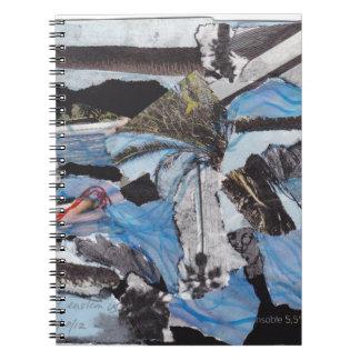 Super storm Sandy collage Spiral Notebook
