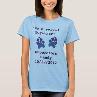 """Super Storm Sandy """"We Survived Together"""" t-shirt"""
