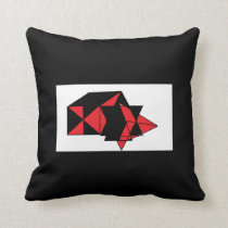 SUPER STRANGE BLACK AND RED SHIRT THROW PILLOW