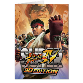 Super Street Fighter IV 3D Edition Box Art Card