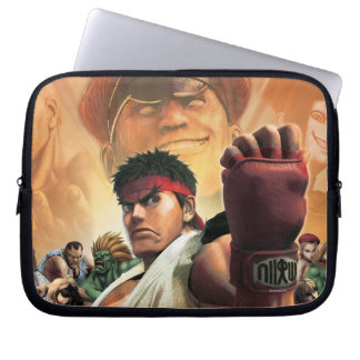 Super Street Fighter IV 3D Edition Box Art Laptop Sleeve