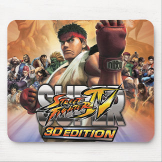 Super Street Fighter IV 3D Edition Box Art Mouse Pads