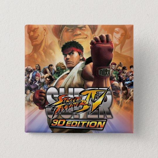 Super Street Fighter IV 3D Edition Box Art Pinback Button