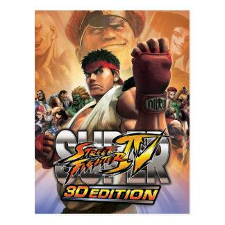 Super Street Fighter IV 3D Edition Box Art Postcard
