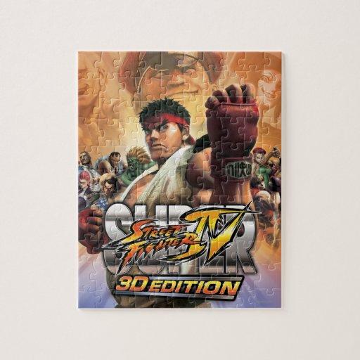 Super Street Fighter IV 3D Edition Box Art Jigsaw Puzzles