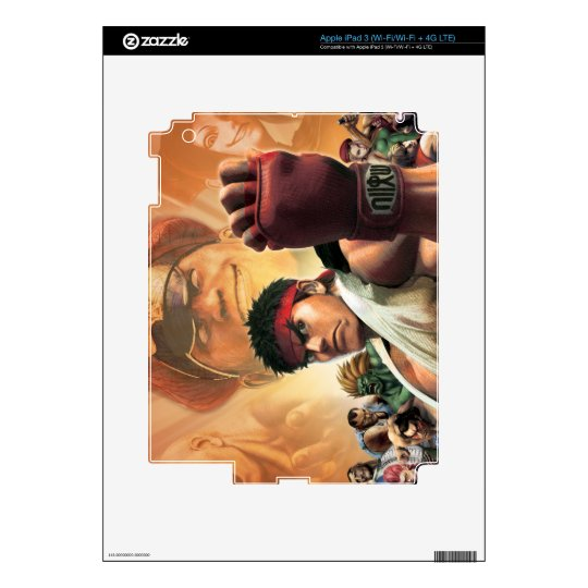 Super Street Fighter IV 3D Edition Box Art Skins For iPad 3