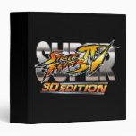 Super Street Fighter IV 3D Edition Logo Vinyl Binders