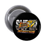 Super Street Fighter IV 3D Edition Logo Pinback Buttons
