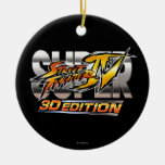 Super Street Fighter IV 3D Edition Logo Ceramic Ornament