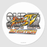 Super Street Fighter IV 3D Edition Logo Classic Round Sticker