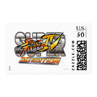 Super Street Fighter IV 3D Edition Logo Postage