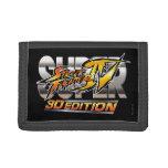 Super Street Fighter IV 3D Edition Logo Trifold Wallets