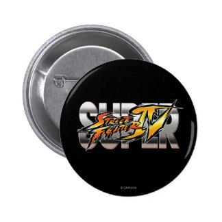 Super Street Fighter IV Logo 2 Inch Round Button