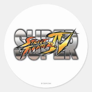 Super Street Fighter IV Logo Classic Round Sticker