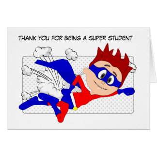 Super Student Card, Thank You from Teacher