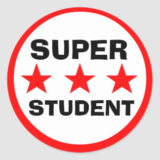 Super Student School Sticker