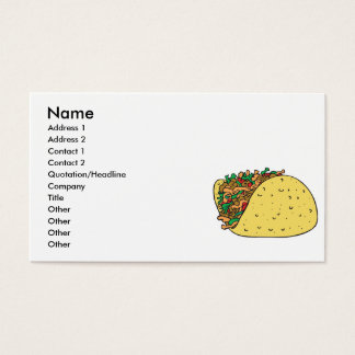 super stuffed taco business card