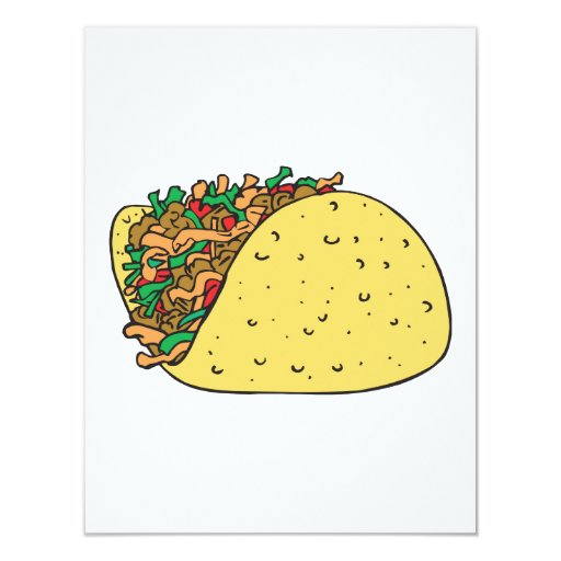 super stuffed taco personalized announcement