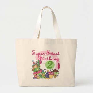 Super Sweet 2nd Birthday T-shirts and Gifts Large Tote Bag
