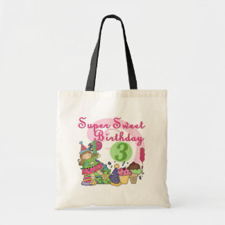 Super Sweet 3rd Birthday Tshirts and Gifts Tote Bag