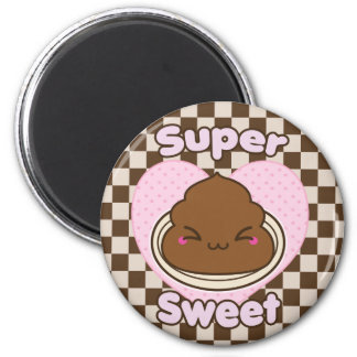 Super Sweet Milk Chocolate Poo 2 Inch Round Magnet