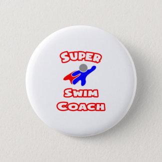 Super Swim Coach Pinback Button