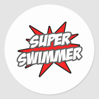 Super Swimmer Classic Round Sticker