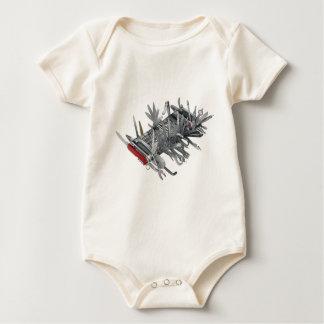 Super Swiss Army Knife Baby Bodysuit