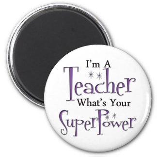 Super Teacher 2 Inch Round Magnet