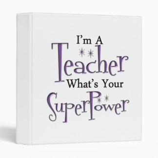 Super Teacher 3 Ring Binder