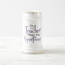 Super Teacher Beer Stein