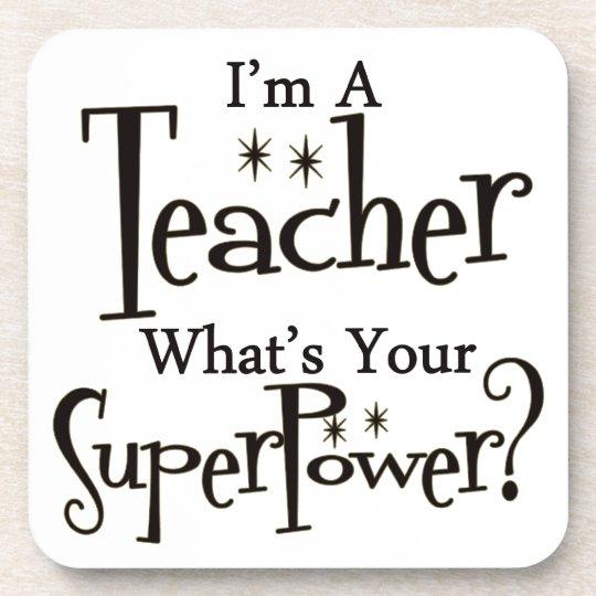 Super Teacher Beverage Coaster