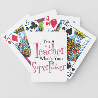 Super Teacher Bicycle Playing Cards