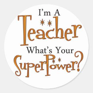 Super Teacher Classic Round Sticker