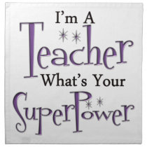 Super Teacher Cloth Napkin