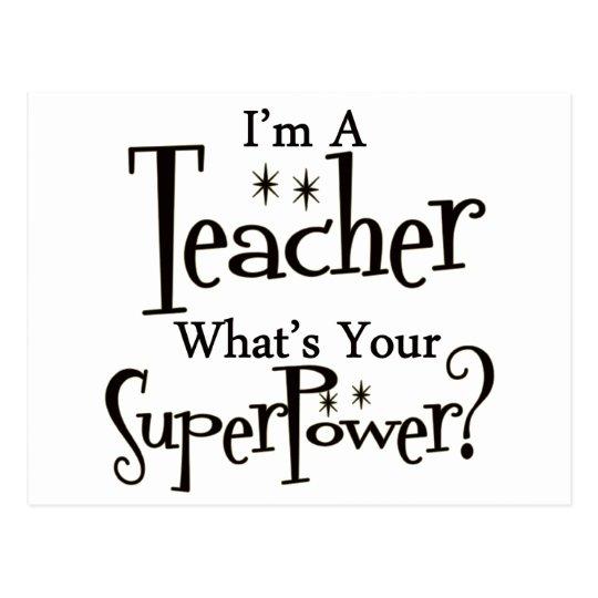 Super Teacher Postcard