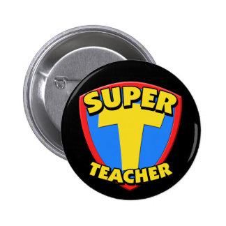 Super Teacher Round Button